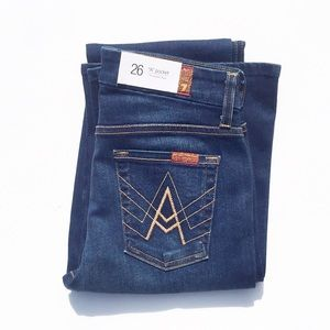 7 For All Mankind Jeans - 7 For All Mankind 'A' Pocket Flare Dark Wash | 26